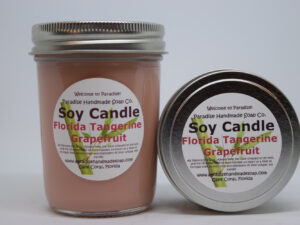 Florida Tangerine Grapefruit Soy Candle by Paradise Handmade Soap.